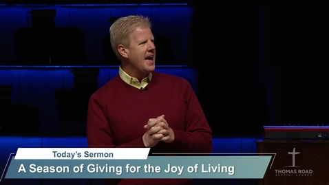 Thumbnail for entry A Season of Giving for the Joy of Living