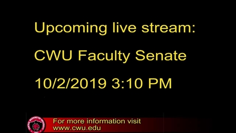 Thumbnail for entry Faculty Senate 10.2.19