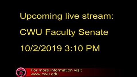 Thumbnail for entry Faculty Senate 10.2.19