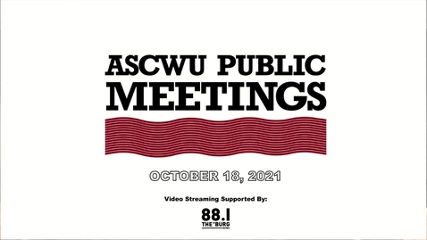 Thumbnail for entry ASCWU Public Meeting 10.19.21