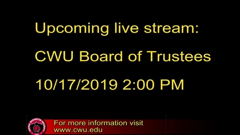 Thumbnail for entry Board of Trustees 10-17-2019