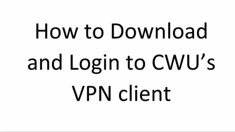 Thumbnail for entry VPN Instructions (Windows 10)