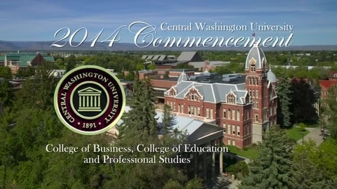 Thumbnail for entry Central Washington University Commencement 2014 AM