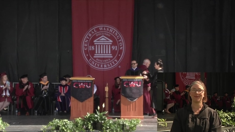 Thumbnail for entry Cyrus Habib at Central Washington University Commencement 2018