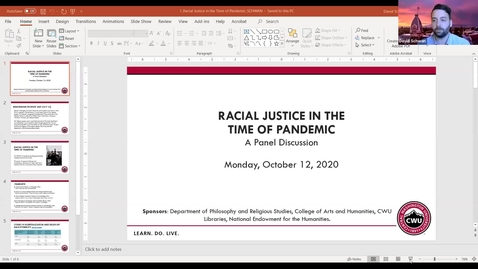 Thumbnail for entry Racial Justice in the Time of Pandemic: A Panel Discussion