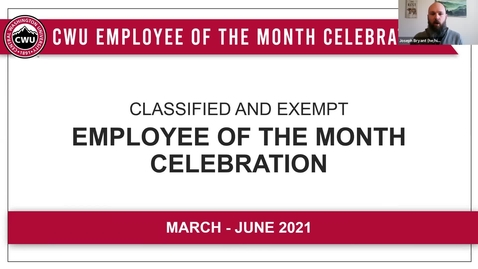 Thumbnail for entry Employee of the Month Spring Celebration