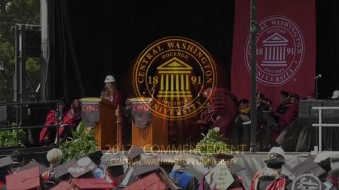 Thumbnail for entry 2017 CWU Commencement 2 Student Speaker - Ms. Jordyn Tucker