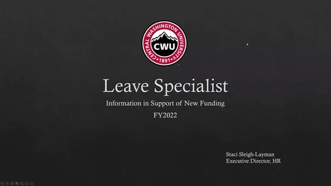 Thumbnail for entry Leave Specialist Request