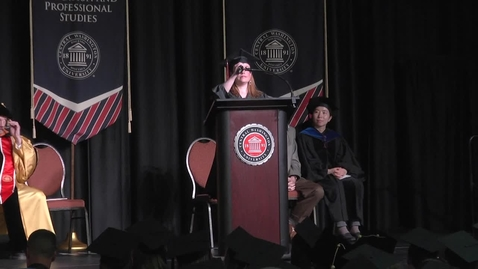 Thumbnail for entry 2016 Graduate Hooding ceremony student speaker Caitlin Stave.