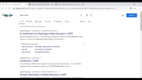 Thumbnail for entry How to create your e-cert account with OSPI