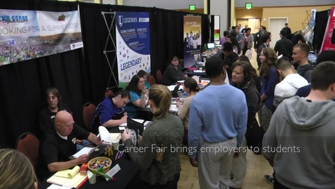 Thumbnail for entry Career fair brings employers to students