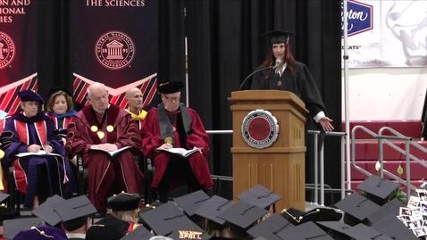 Thumbnail for entry 2018 Graduate Hooding Student Speaker Lisa Wilding