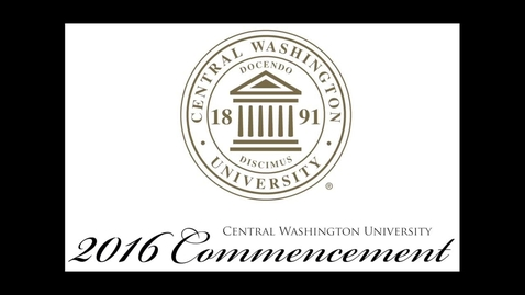 Thumbnail for entry 2016 CWU Westside  Commencement student speaker Nathan McWalters