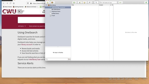 Thumbnail for entry Zotero Lesson in 3 Minutes