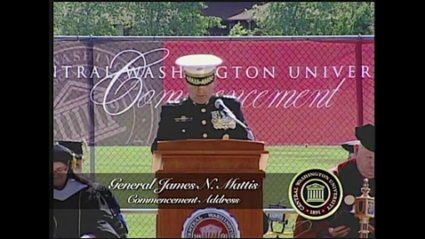 Thumbnail for entry General James N. Mattis speaks at CWU Commencement