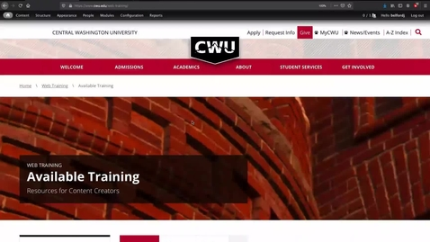 Thumbnail for entry Webform Training: Creating a Webform