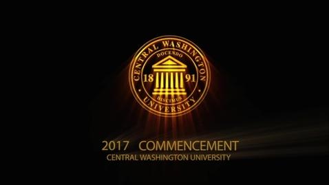 Thumbnail for entry Central Washington University Commencement 2017  AM