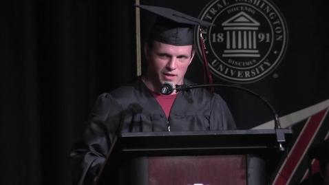 Thumbnail for entry 2016 Graduate Hooding ceremony student speaker Zachary McCarley