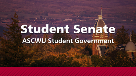 Thumbnail for entry ASCWU Student Senate Meeting