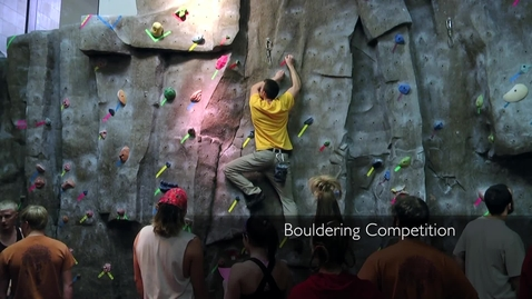 Thumbnail for entry Bouldering Competition