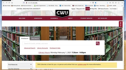 Thumbnail for entry Finding Digital Primary Sources from CWU Databases