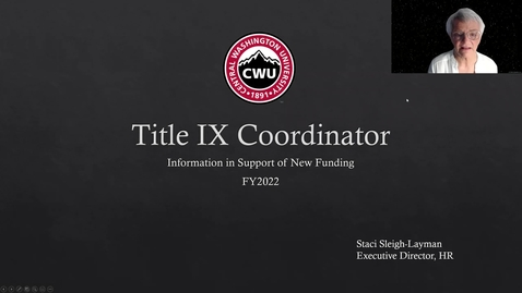 Thumbnail for entry FY22 Title IX Coordinator Funding request