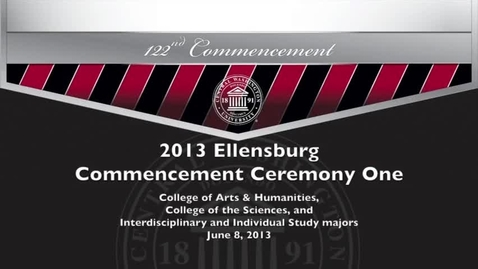 Thumbnail for entry Central Washington University Commencement 2013 AM