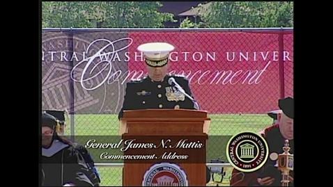 Thumbnail for entry General James Mattis Commencement Address at Central Washington University 2011