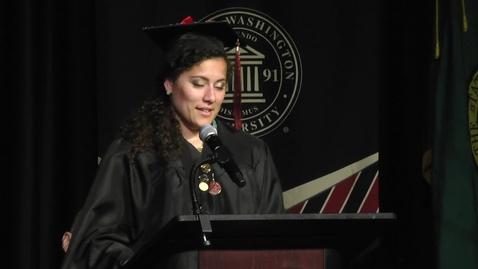 Thumbnail for entry 2017 Graduate Student Hooding Speaker Mia Patterson
