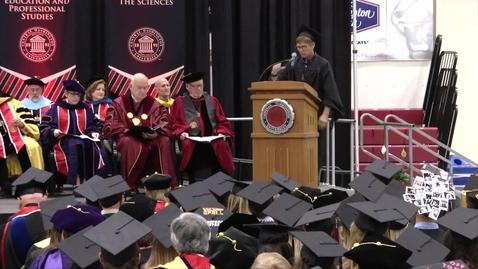 Thumbnail for entry 2018 Graduate Hooding Student Speaker Sam McManis
