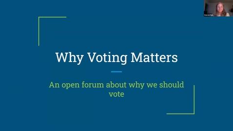 Thumbnail for entry Voter Registration Forum