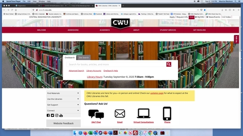 Thumbnail for entry A demonstration of how to use CWU finding aids online