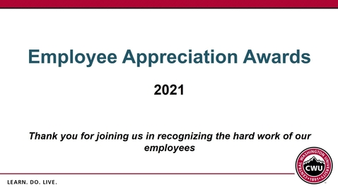 Thumbnail for entry 5-Year Employee Appreciation Awards 2021