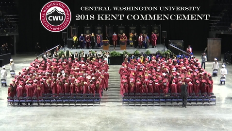 Thumbnail for entry  Central Washington University Commencement at Kent 2018