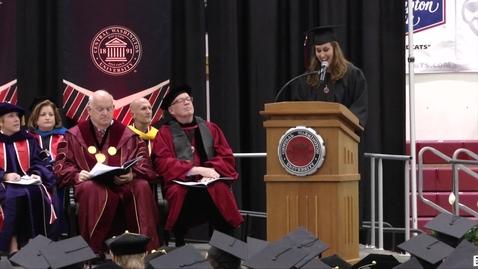 Thumbnail for entry 2018 Graduate Hooding Student Speaker Lindsay Millward