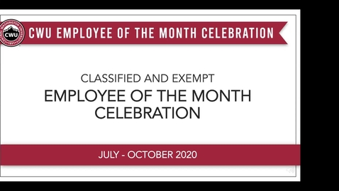 Thumbnail for entry Employee of the Month Celebration