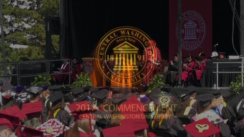 Thumbnail for entry 2017 CWU Commencement 1 Student Speaker - Mr. Judah Bergeron