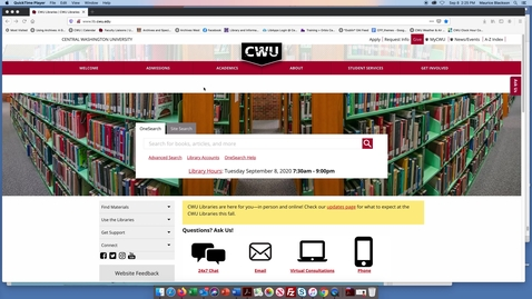 Thumbnail for entry How to use ScholarWorks @ CWU to find Primary Sources