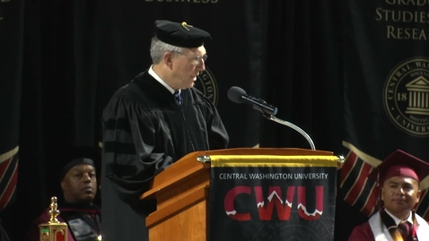 Thumbnail for entry 2018 CWU Kent Commencement Address Chris Lytle
