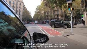 The car that communicates with traffic lights - HD-NO ENDING