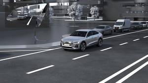 Animation – Audi e-tron Sportback virtual exterior mirror (English)