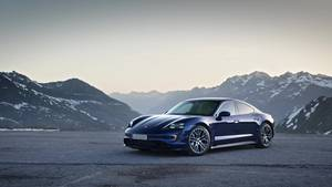 TV footage: Porsche Taycan Turbo blue
