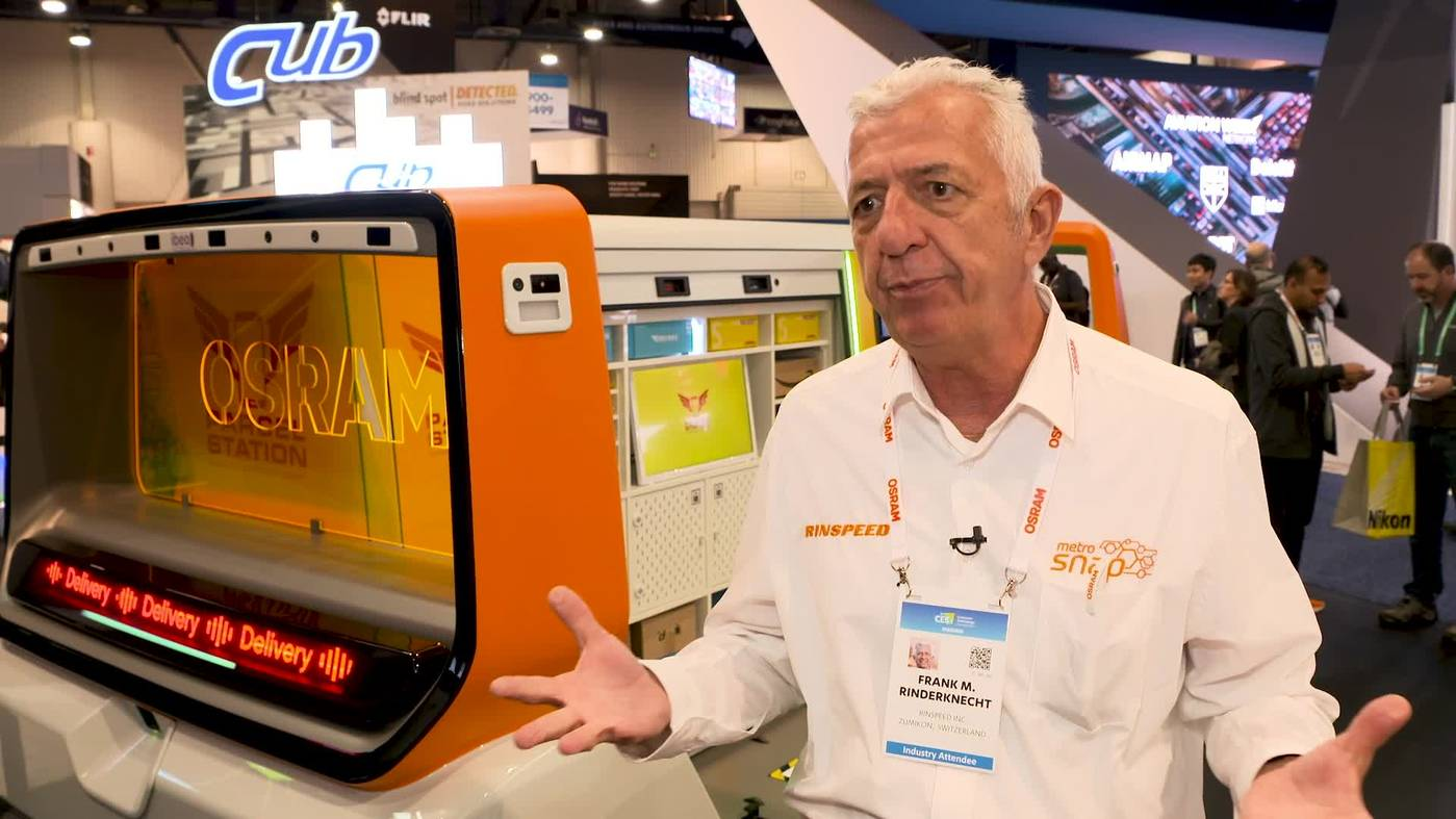 Rinspeed CEO Frank Rinderknecht Introduces Third Metro Snap Model