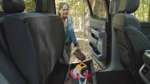 All new F-150 Lockable Rear Under Seat Storage - Broll
