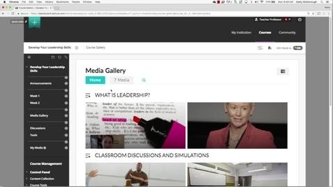 Thumbnail for entry Blackboard LMS Walkthrough