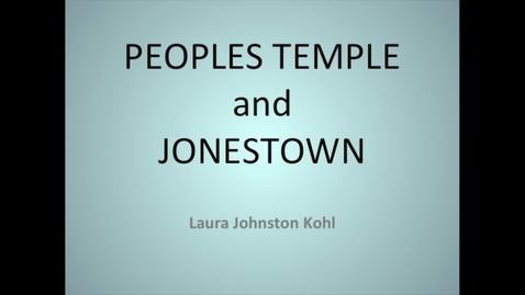 Thumbnail for entry Jonestown Survivor - Laura Johnston Kohl