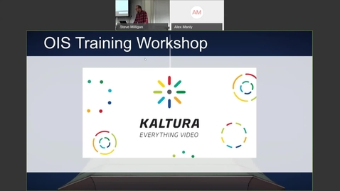 Thumbnail for entry OIS Workshop - Kaltura Basic Training