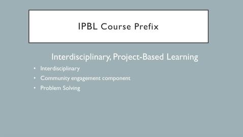 Thumbnail for entry Interdisciplinary Courses