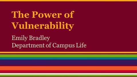 Thumbnail for entry Leadership-Power of Vulnerability
