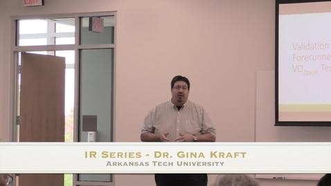 Thumbnail for entry IR Series - Dr. Gina Kraft